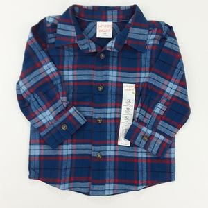Jumping Beans Baby Boy Flannel Shirt 12 Moths